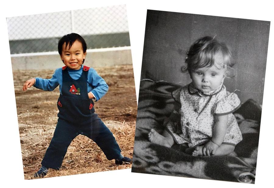 Shuichi ja Marju lapsena