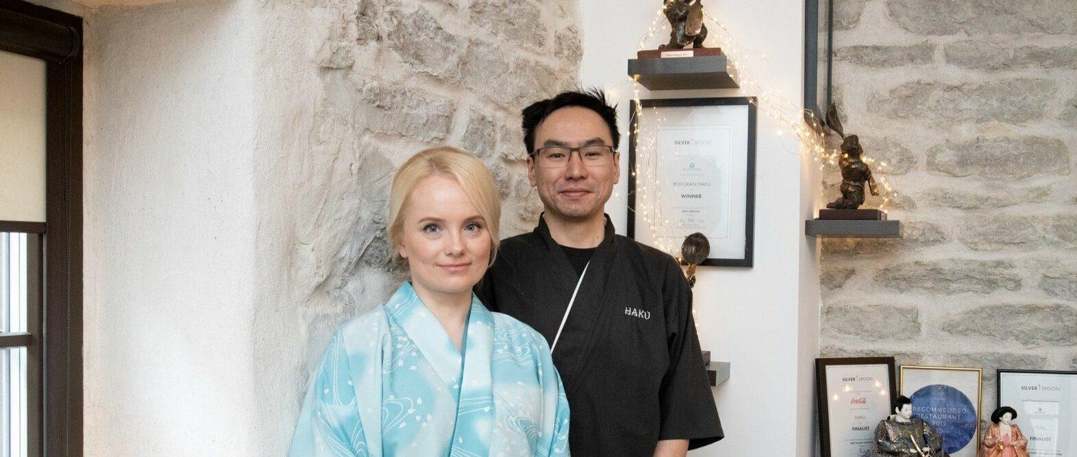 Hubases Haku restoranis toimetab Shuichi köögis ja abikaasa Marju tegutseb ettekandjana.